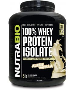 Nutrabio 100% Whey Protein Isolate 5LB vanilla